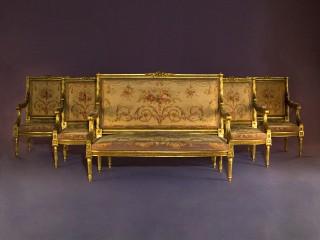 Juego de sala Luis XVI
