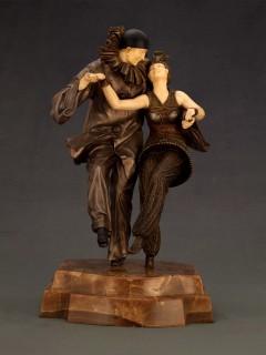 Pierrot y Colombina (Demetre H. Chiparus)